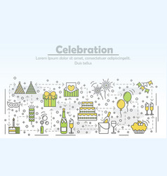 Celebration event agency advertising flat vector