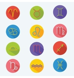 Classic astrological zodiac signs set vector