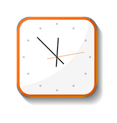 Classic office wall clock icon vector