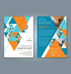 Cover annual report 1160 vector