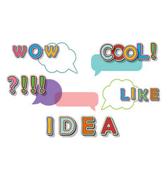 creative idea consept pop art comic style speech vector image