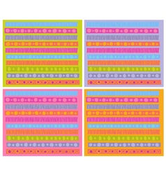 decorative patterns collection in cheerful color vector image