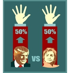 Donald Trump and Hillary Clinton vector