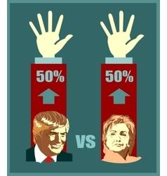 Donald Trump and Hillary Clinton vector image