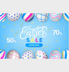 easter sale discount sell-out banner vector image