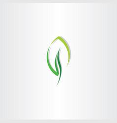 eco leaf green design logo icon vector image