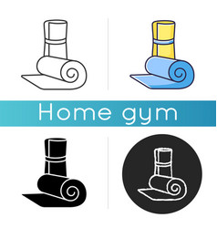 exercise mat icon vector image