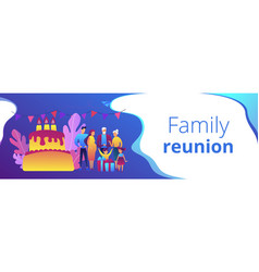 Family tradition concept banner header vector