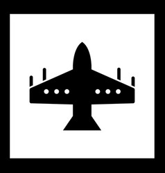 Fighter jet icon vector