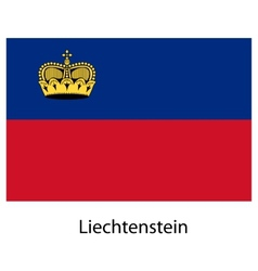 Flag of the country liechtenstein vector image