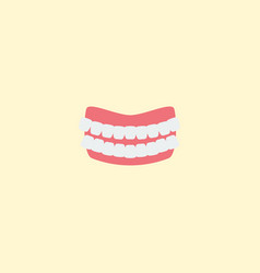 Flat icon denture element of vector