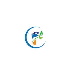 Foot therapist logo vector