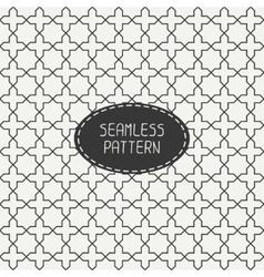 Geometric monochrome lattice seamless arabic vector