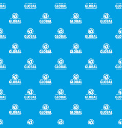 global pattern seamless blue vector image