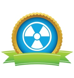Gold nuclear logo vector image