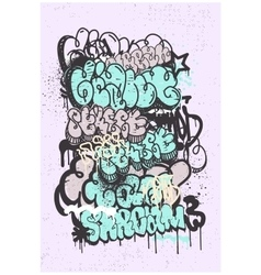 Graffiti grunge abstract background vector