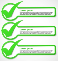 Green check mark banner vector image