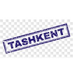 Grunge tashkent rectangle stamp vector