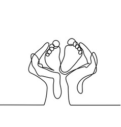 hands holding bafoot - protection symbol vector image