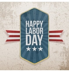 Happy Labor Day Text on Tag vector image