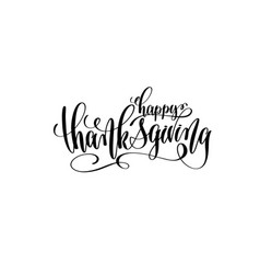 happy thanksgiving hand lettering inscription vector image