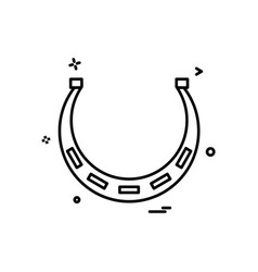 horseshoe icon design vector image