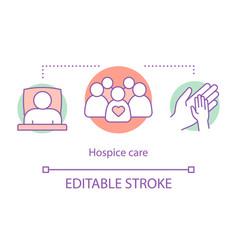 hospice care concept icon vector image