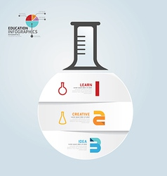 Infographic template with test-tube paper cut vector