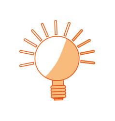 isolated lighting bulb vector image