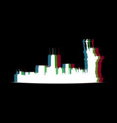 Isolated new york cityscape vector