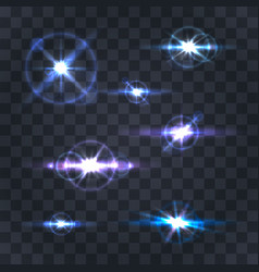 lighting flare collection vector image