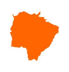 Map of Mato Grosso do Sul vector image