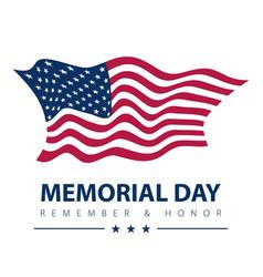 memorial day patriotic banner american flag on vector image