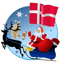 Merry Christmas Denmark vector