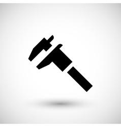 Modern caliper icon vector