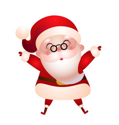 old santa claus merry christmas vector image
