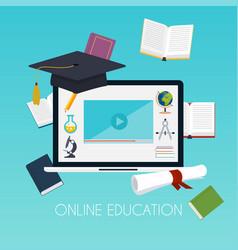 online education concept science concept vector image