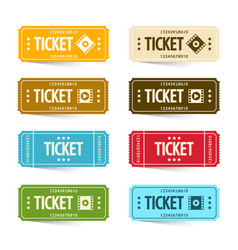 paper cinema tickets set concert or festival vector image
