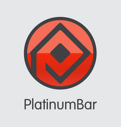 Platinumbar digital currency - coin image vector
