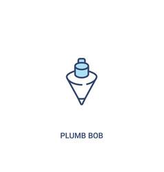 Plumb bob concept 2 colored icon simple line vector