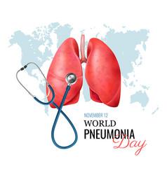 Pneumonia realistic concept vector