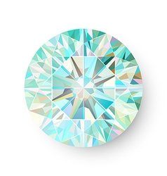 Precious Gem Isolated on White Background vector image