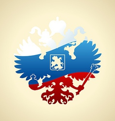 Russian coat of arms double-headed eagle Symbol of vector