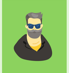 Sketchy style artistic character man vector