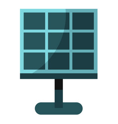 Solar battery icon isolated vector