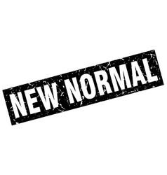 Square grunge black new normal stamp vector
