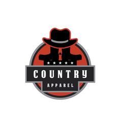 texas country apparel logo vector image