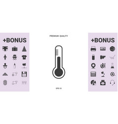 thermometer icon symbol - graphic elements for vector image