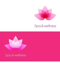 Two template with lotus flower elements vector image