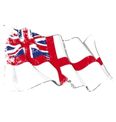 UK Naval Ensign Flag Grunge vector
